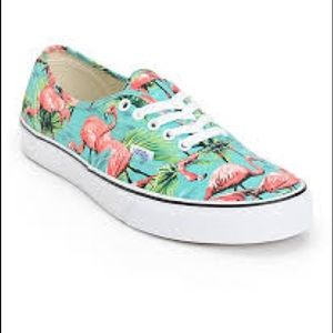 Vans Flamingo Van Doren Lace Up Sneakers Sz 9